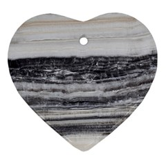 Marble Tiles Rock Stone Statues Pattern Texture Heart Ornament (two Sides)