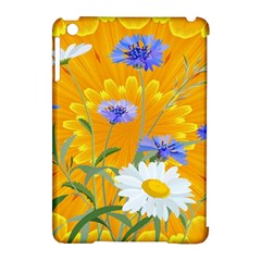 Flowers Daisy Floral Yellow Blue Apple Ipad Mini Hardshell Case (compatible With Smart Cover) by Simbadda