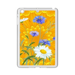 Flowers Daisy Floral Yellow Blue Ipad Mini 2 Enamel Coated Cases