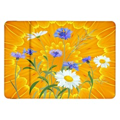 Flowers Daisy Floral Yellow Blue Samsung Galaxy Tab 8 9  P7300 Flip Case