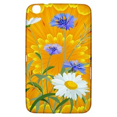 Flowers Daisy Floral Yellow Blue Samsung Galaxy Tab 3 (8 ) T3100 Hardshell Case  by Simbadda