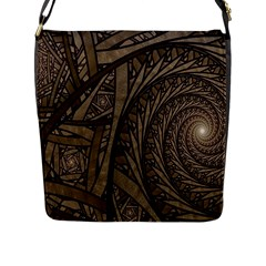 Abstract Pattern Graphics Flap Messenger Bag (l)