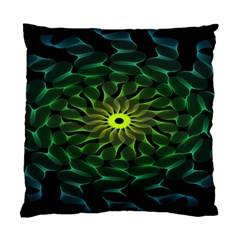Abstract Ribbon Green Blue Hues Standard Cushion Case (two Sides)