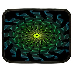 Abstract Ribbon Green Blue Hues Netbook Case (xl)  by Simbadda