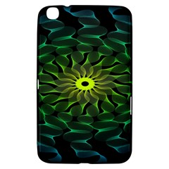 Abstract Ribbon Green Blue Hues Samsung Galaxy Tab 3 (8 ) T3100 Hardshell Case  by Simbadda