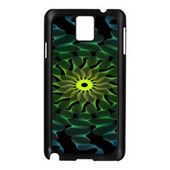 Abstract Ribbon Green Blue Hues Samsung Galaxy Note 3 N9005 Case (black)