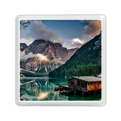 Italy Mountains Pragser Wildsee Memory Card Reader (square)