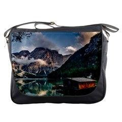 Italy Mountains Pragser Wildsee Messenger Bags