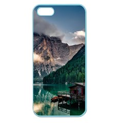 Italy Mountains Pragser Wildsee Apple Seamless Iphone 5 Case (color)