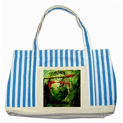 Continental Breakfast 6 Striped Blue Tote Bag by bestdesignintheworld