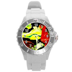 Drama 1 Round Plastic Sport Watch (l) by bestdesignintheworld