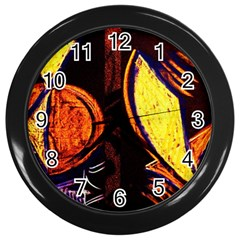 Cryptography Of The Planet Wall Clocks (black) by bestdesignintheworld