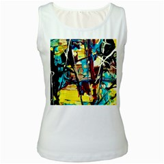 Dance Of Oil Towers 4 Women s White Tank Top by bestdesignintheworld