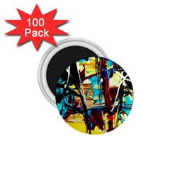 Dance Of Oil Towers 4 1 75  Magnets (100 Pack)  by bestdesignintheworld