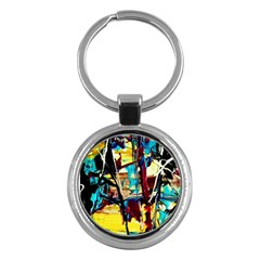 Dance Of Oil Towers 4 Key Chains (round)  by bestdesignintheworld