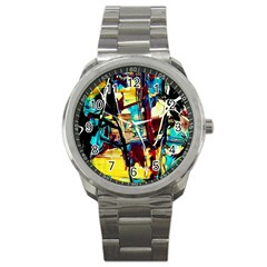Dance Of Oil Towers 4 Sport Metal Watch by bestdesignintheworld