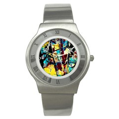 Dance Of Oil Towers 4 Stainless Steel Watch by bestdesignintheworld