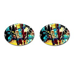 Dance Of Oil Towers 4 Cufflinks (oval) by bestdesignintheworld