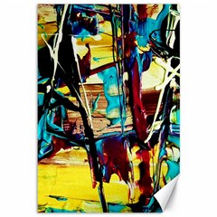 Dance Of Oil Towers 4 Canvas 12  X 18   by bestdesignintheworld
