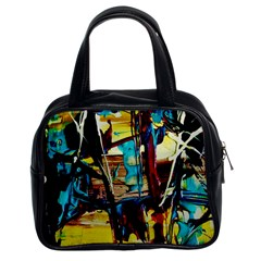 Dance Of Oil Towers 4 Classic Handbags (2 Sides) by bestdesignintheworld