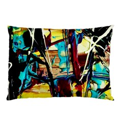 Dance Of Oil Towers 4 Pillow Case by bestdesignintheworld