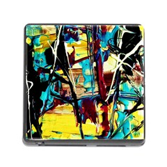 Dance Of Oil Towers 4 Memory Card Reader (square) by bestdesignintheworld