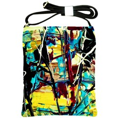 Dance Of Oil Towers 4 Shoulder Sling Bags by bestdesignintheworld