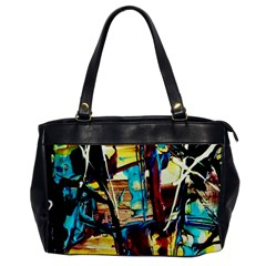 Dance Of Oil Towers 4 Office Handbags by bestdesignintheworld