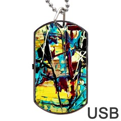 Dance Of Oil Towers 4 Dog Tag Usb Flash (two Sides) by bestdesignintheworld