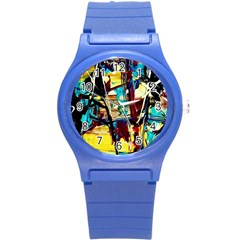Dance Of Oil Towers 4 Round Plastic Sport Watch (s) by bestdesignintheworld