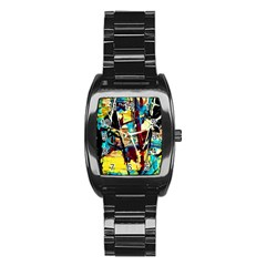 Dance Of Oil Towers 4 Stainless Steel Barrel Watch by bestdesignintheworld