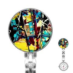 Dance Of Oil Towers 4 Stainless Steel Nurses Watch by bestdesignintheworld