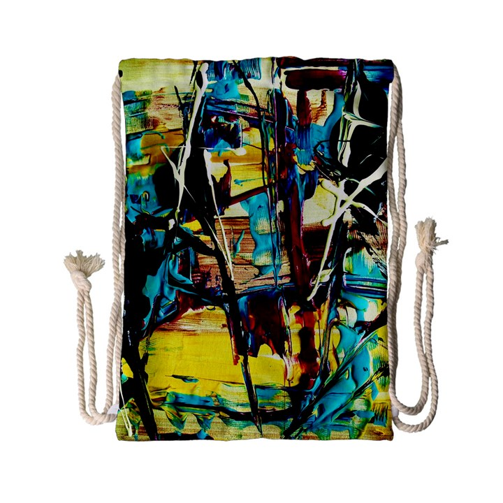 Dance Of Oil Towers 4 Drawstring Bag (Small)