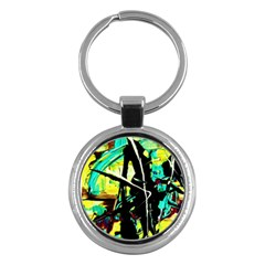 Dance Of Oil Towers 5 Key Chains (round)  by bestdesignintheworld