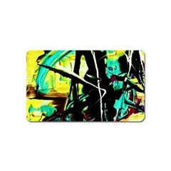 Dance Of Oil Towers 5 Magnet (name Card) by bestdesignintheworld