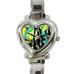 Dance Of Oil Towers 5 Heart Italian Charm Watch by bestdesignintheworld
