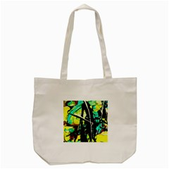 Dance Of Oil Towers 5 Tote Bag (cream) by bestdesignintheworld
