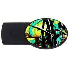Dance Of Oil Towers 5 Usb Flash Drive Oval (4 Gb) by bestdesignintheworld