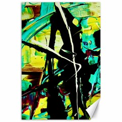 Dance Of Oil Towers 5 Canvas 24  X 36  by bestdesignintheworld