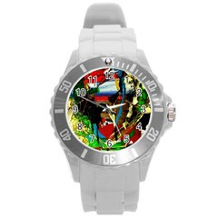 Catalina Island Not So Far 7 Round Plastic Sport Watch (l) by bestdesignintheworld