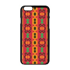 Tribal Shapes In Retro Colors                           Apple Iphone 6/6s White Enamel Case by LalyLauraFLM