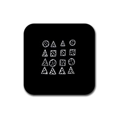 Drawing  Rubber Square Coaster (4 Pack)  by ValentinaDesign