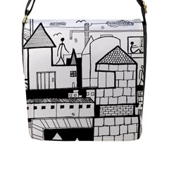 Drawing  Flap Messenger Bag (l)  by ValentinaDesign