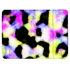 Watercolors Shapes On A Black Background                            Htc One M7 Hardshell Case by LalyLauraFLM