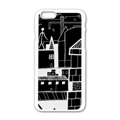 Drawing  Apple Iphone 6/6s White Enamel Case by ValentinaDesign
