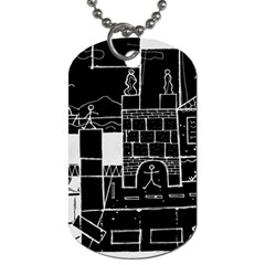 Drawing  Dog Tag (one Side) by ValentinaDesign