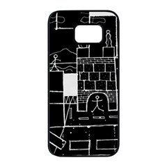Drawing  Samsung Galaxy S7 Edge Black Seamless Case by ValentinaDesign