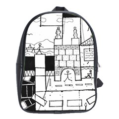 Drawing  School Bag (large) by ValentinaDesign