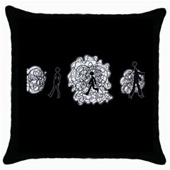 Drawing  Throw Pillow Case (black)