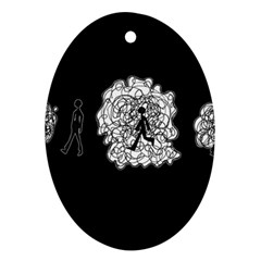 Drawing  Oval Ornament (two Sides)